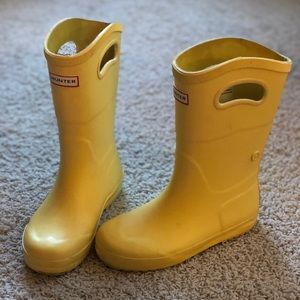 Hunter Kids First Classic Rain Boots: Yellow